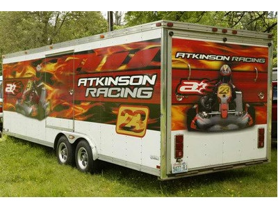 Awesome Go Kart Graphics On This Trailer